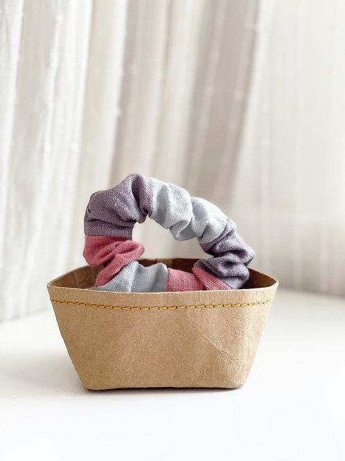 Patchwork Linen Scrunchie