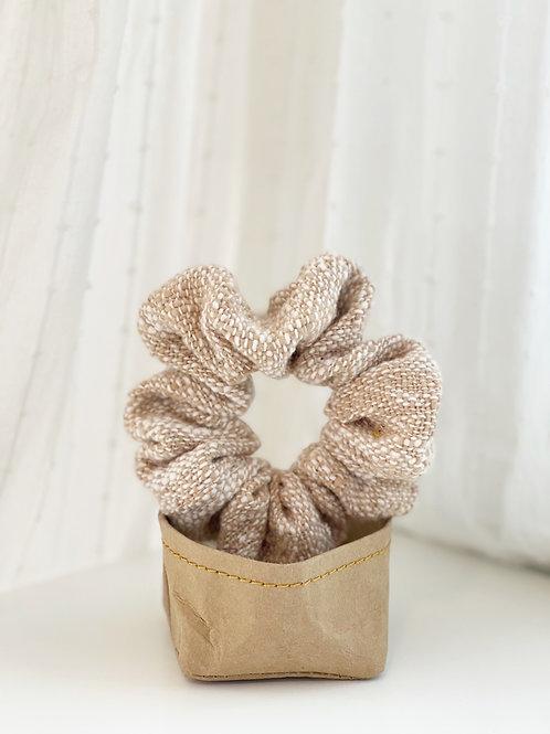 Ivory Knit Oversized Scrunchie