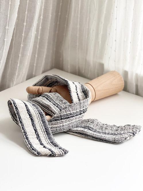 Striped Knit Headscarf