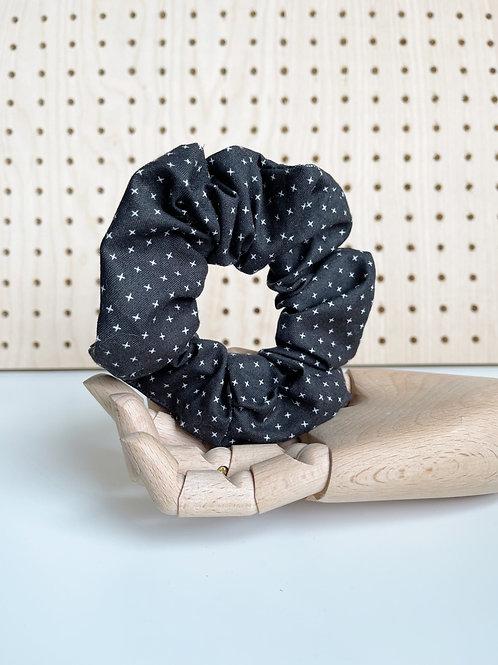 Black Patterned Scrunchie