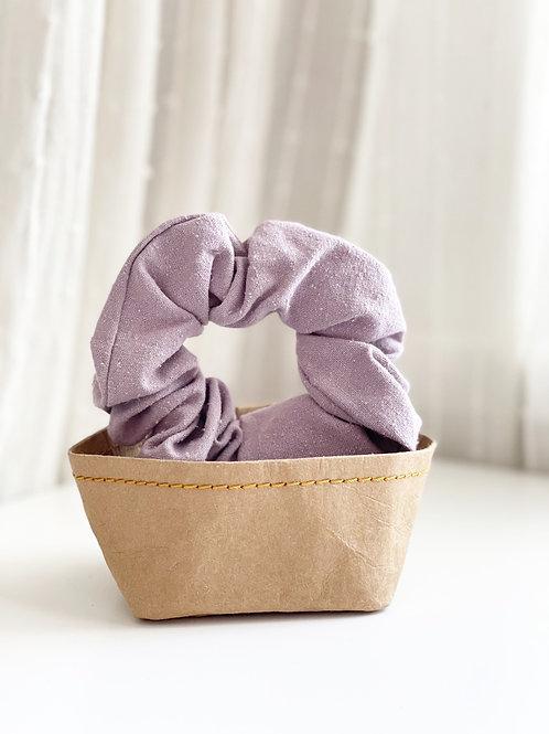 Lilac Raw Silk Scrunchie