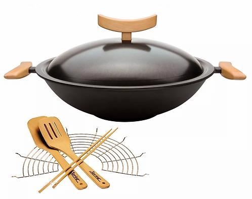Spring - Wok aus Gusseisen 35 cm, 6-teilig