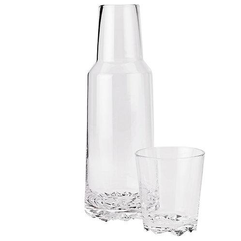Stelton - Glacier Karaffe 1 l mit 1 Glas 0,25 l