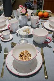 Gmundener Keramik - Rosa Herzen Geschirr