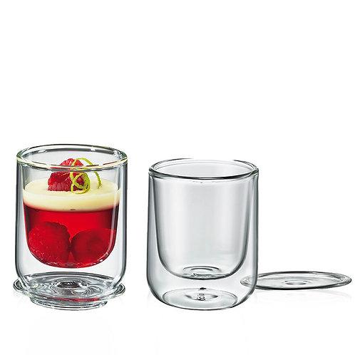 Cilio - 2er Set Dessert & Vorspeisen Glas, 80 ml