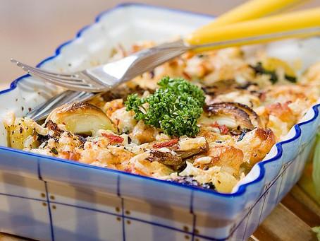 Auflauf mit Gnocchi und Pilzen