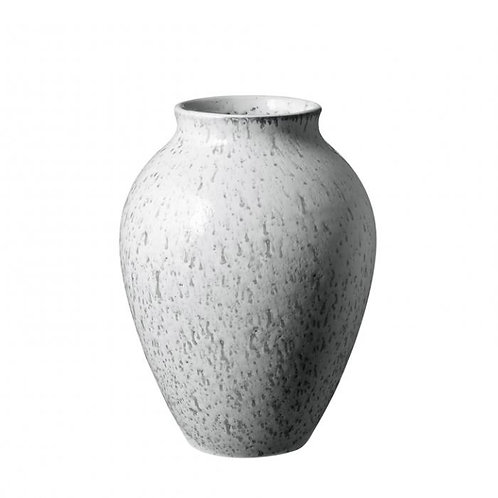 Knabstrup Vase 20 cm, weiß/grau