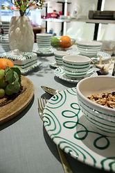 mundener Keramik - Gruen Geflammt - Tavo