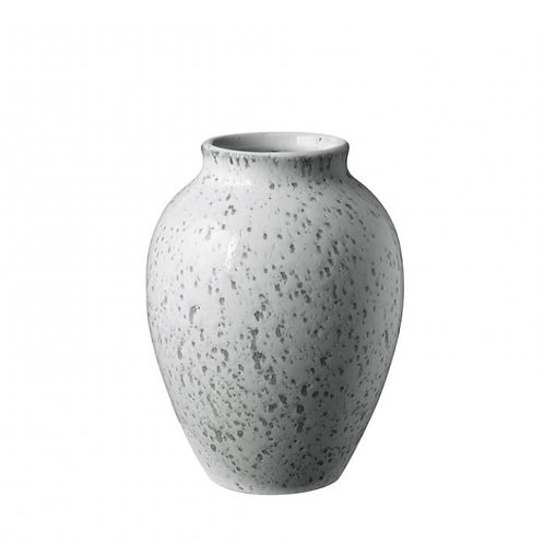 Knabstrup Vase 12,5 cm, weiß/grau