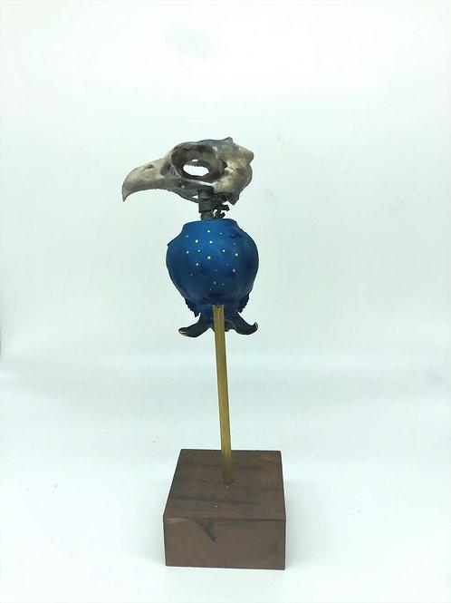Minimalist Grimm Echo Gilded Blue Gold