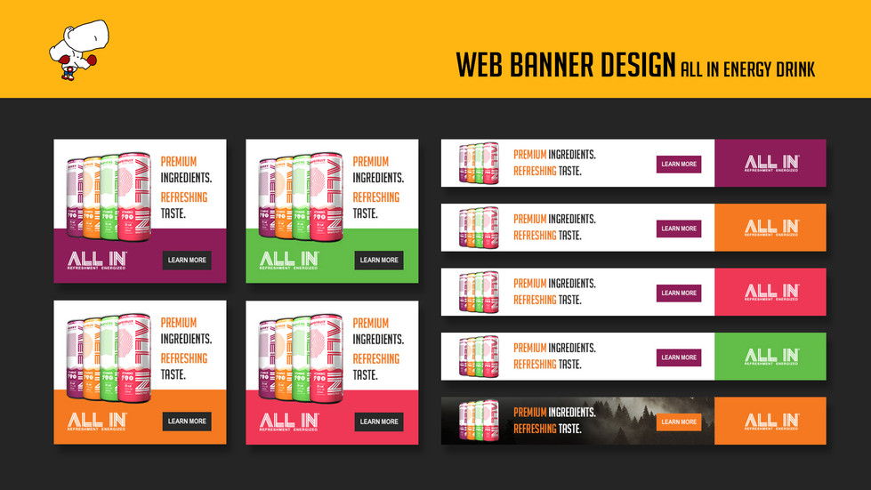 Web Banners - ALL IN Energy Drink