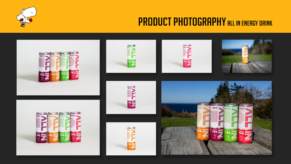 Photography - ALL IN Energy Drink