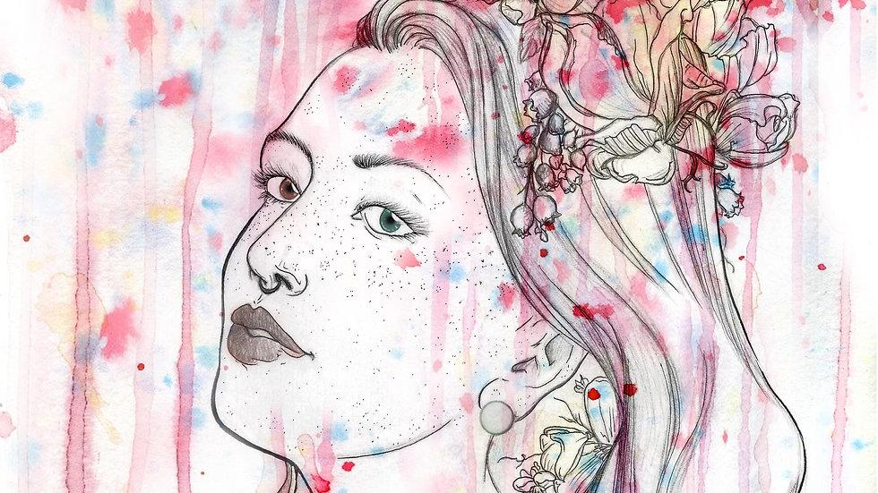 "Flower Crown 8x10"" print"