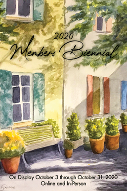 Members Biennial exhibit poster