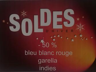 SOLDES -50 % BLEU BLANC ROUGE / GARELLA / INDIES