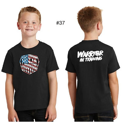 American Ninja Warrior Kids T-Shirt (Black American Flag)
