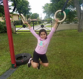 kids at ninja plaground