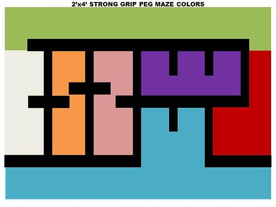 2x4 PEG MAZE COLORS
