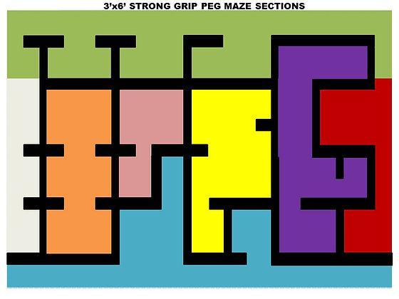 3x6 PEG MAZE COLORS