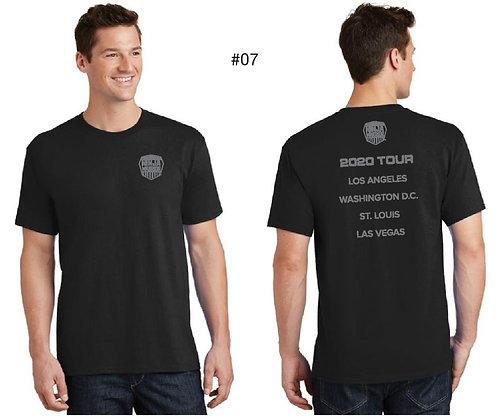 American Ninja Warrior Men's Tour T-Shirt (Black)