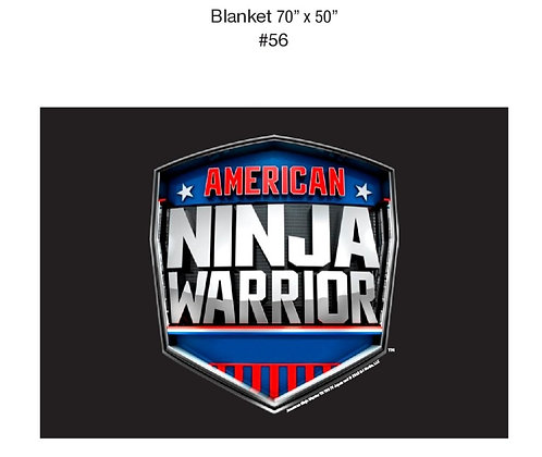 "American Ninja Warrior Blanket 70"" x 50"""