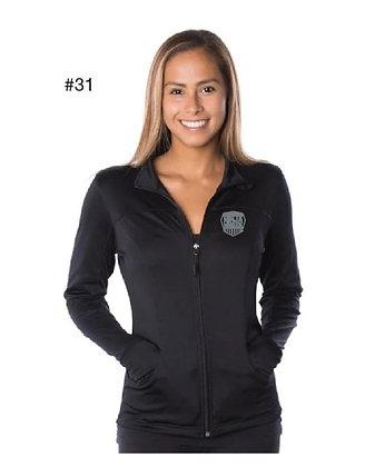 American Ninja Warrior Women's Sweater with Zipper  (Black)