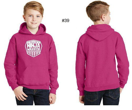 American Ninja Warrior Kids Hoodie (Pink)