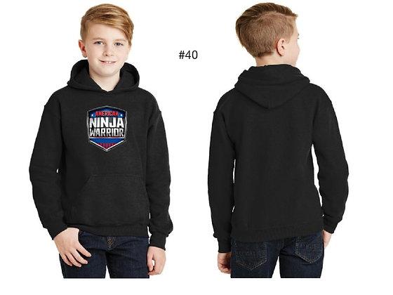 American Ninja Warrior Kids Hoodie (Black)