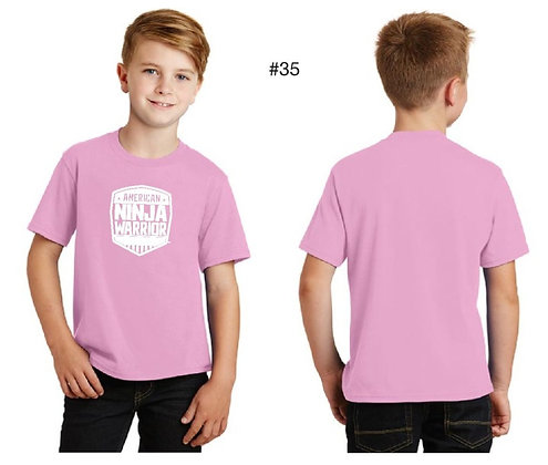 American Ninja Warrior Kids T-Shirt (Light Pink)