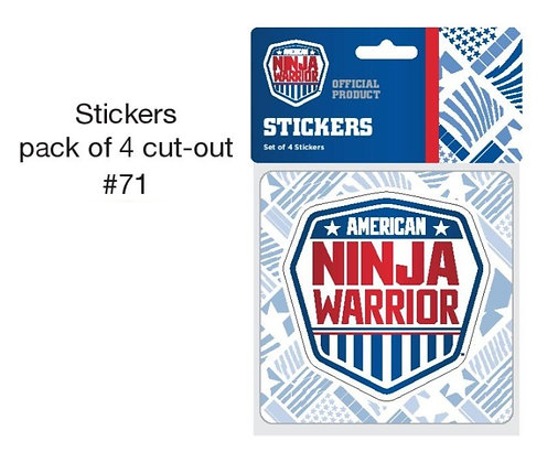 American Ninja Warrior Stickers (4 in Pack)