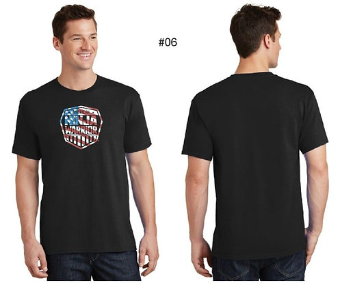 American Ninja Warrior Men's T-Shirt (Black American Flag)