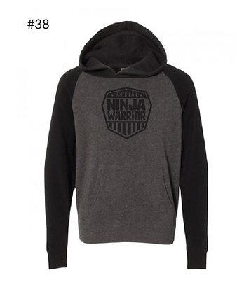 American Ninja Warrior Kids Hoodie (Black and Gray)