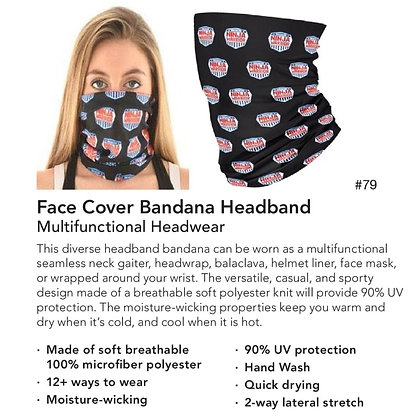 ANW Face Cover Bandanna Headband
