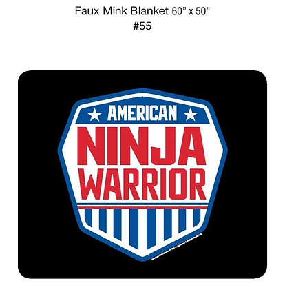 "American Ninja Warrior Faux Mink Blanket 60"" x 50"""