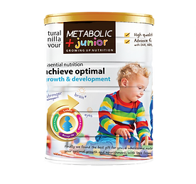 Metabolic Junior: contains only the A2 β-casein from Netherland premium whole goat's milk which has low risk of allergy