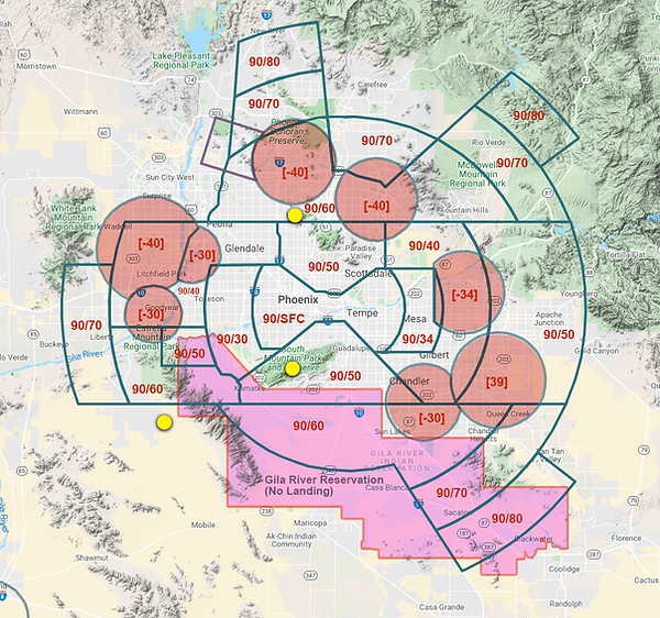 PHX Area AirSpace Simplified.png