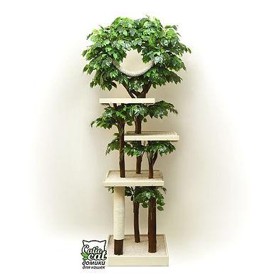 дерево для больших кошек и котов с листвой