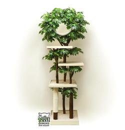 Дерево для кошки Grandcatio белая тонировка