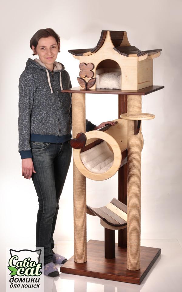 Деревянный комплекс для кошки Catcoutry