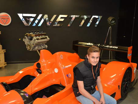 ALEX VISITS THE GINETTA FACTORY
