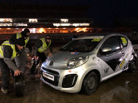 20 Tyres, 450 Litres of fuel, 4 Drivers and 24 Hours around Rockingham in a Citroen C1