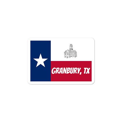 Granbury, TX Bubble-free stickers