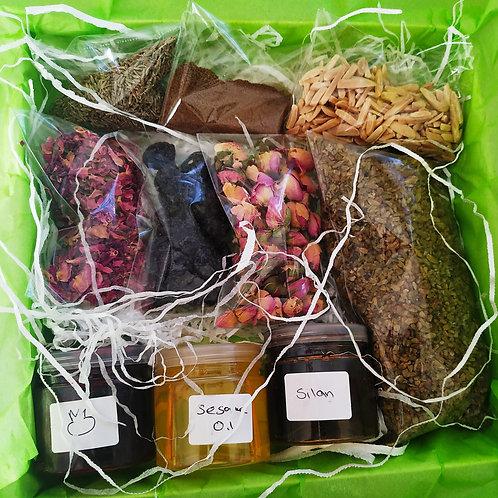 January box. Three recipes & special ingredients