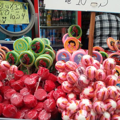 סוכריות בשוק עכו