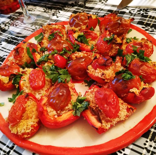 פלפלים, פרמז'ן ועגבניות