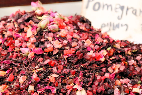 Tea infusion: pomegranates, rosebuds, hibiscus. 200Gram