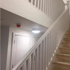 Stairs, Railings, Doors done