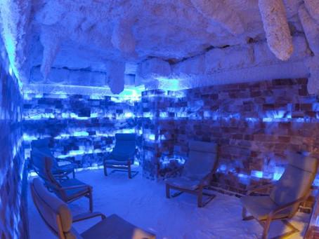 Баня Тольятти Зима. Снежная комната в бане.