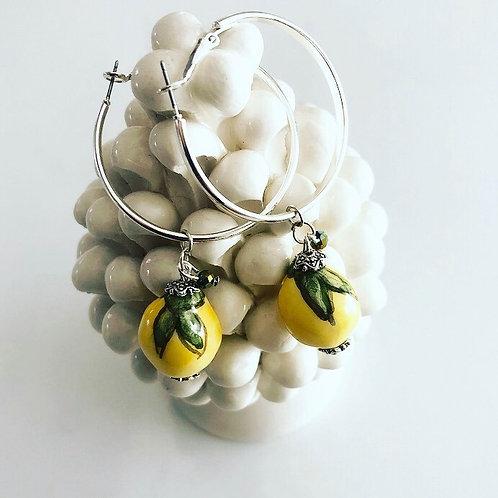 Handmade Earrings Lemons Of Sicily