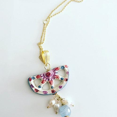 Handmade Sicilian Necklace Half Wheel